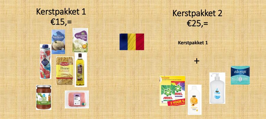 Roemenië kerstpakketten actie