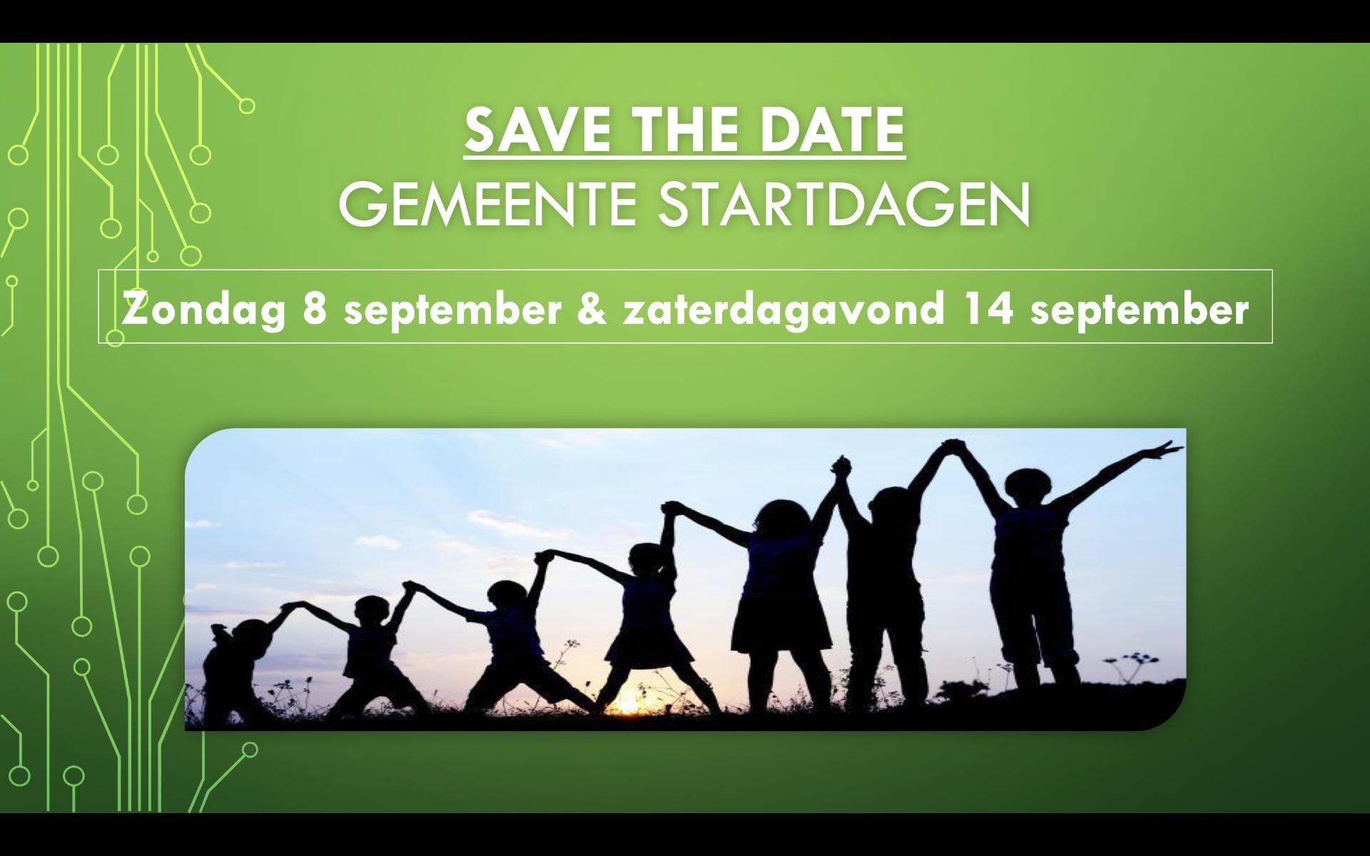Save the date: gemeente startdagen